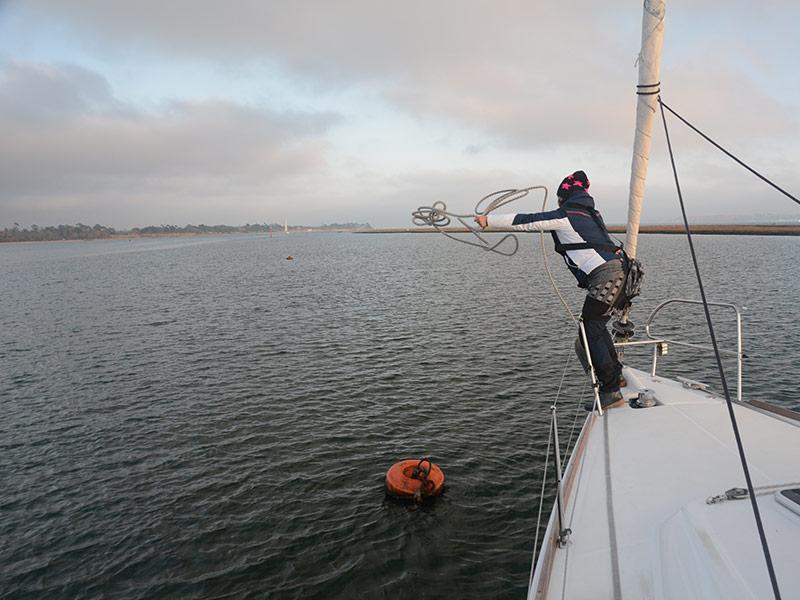 Anlegen Segelboot Mco Sailing