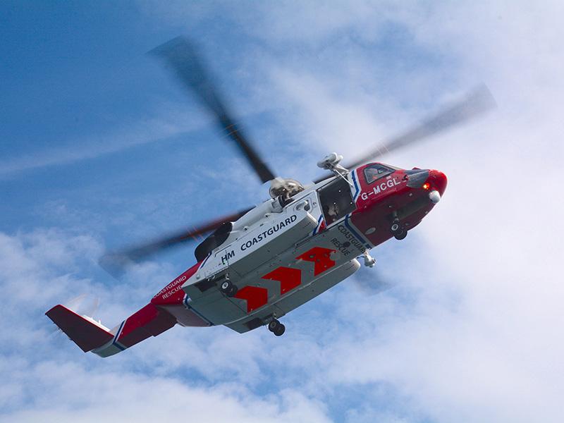 Coastguard Helicopter Mco Sailing
