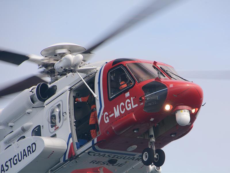 Coastguard Helicopter Nahaufnahme Mco Sailing