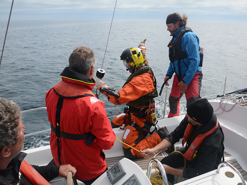Coastguard Uebung Training Mco Sailing